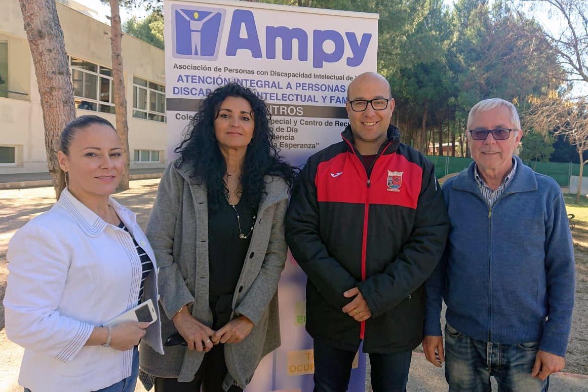 Futbol Base Yecla colabora con Ampy